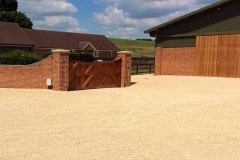 Equine Construction - Lambourn Entrance