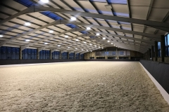 Equine Construction - Indoor Arena Cotswold at Night